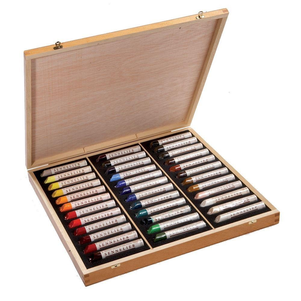 sennelier artists' oil sticks wooden set