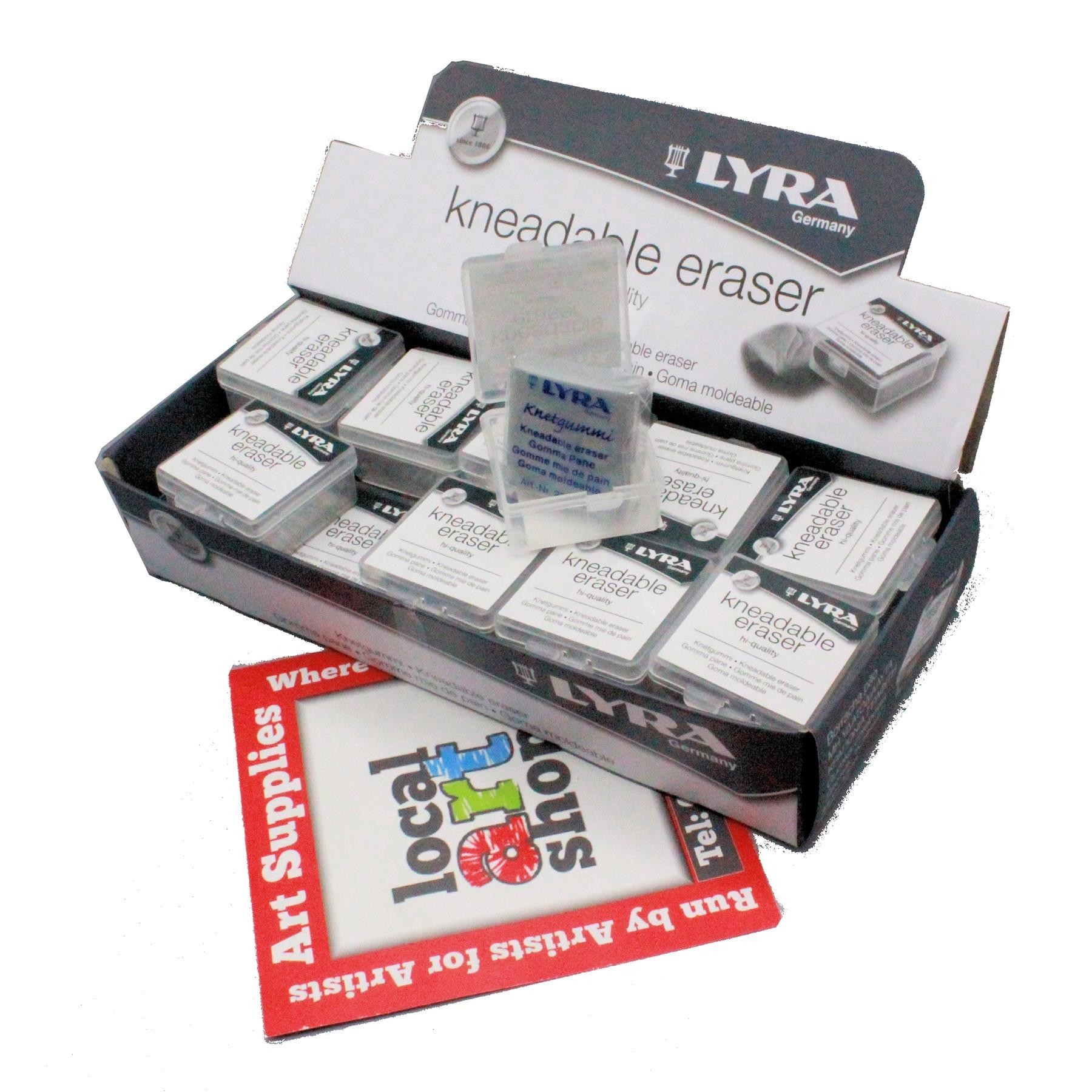 Lyra kneadable eraser in box watercolour putty rubber
