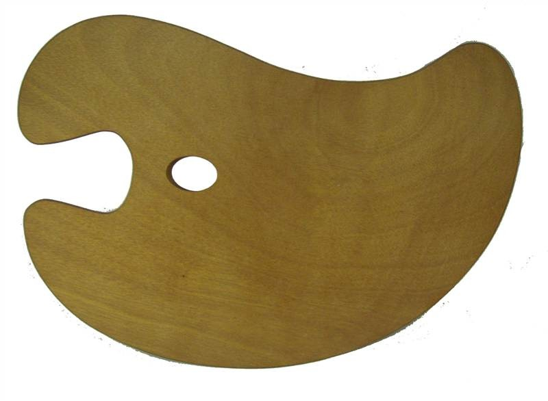 Medium Wooden Kidney Palette
