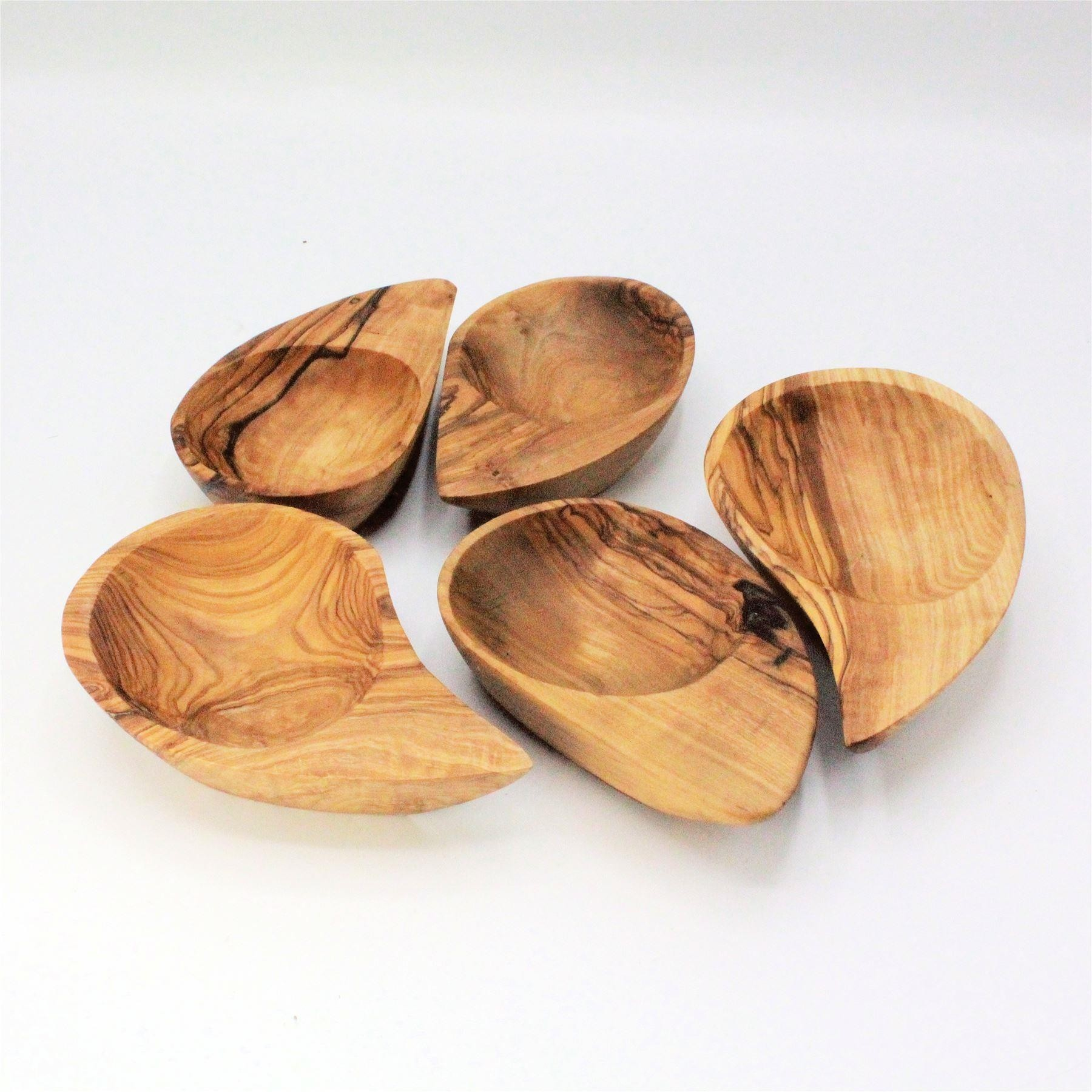 Olive wood ying-yang dish single dish