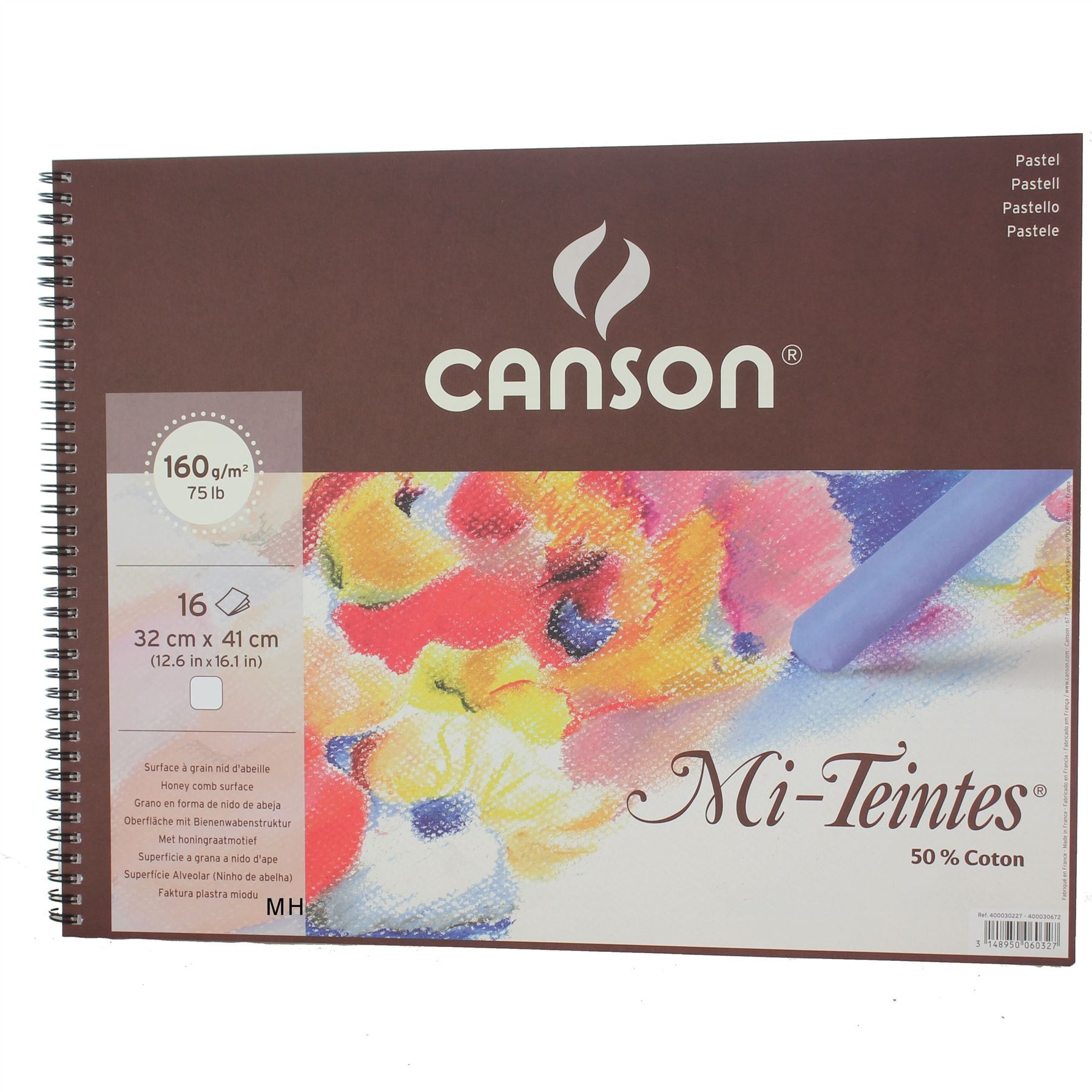 Canson Artists whtie large pastel paper pad Mi Teintes