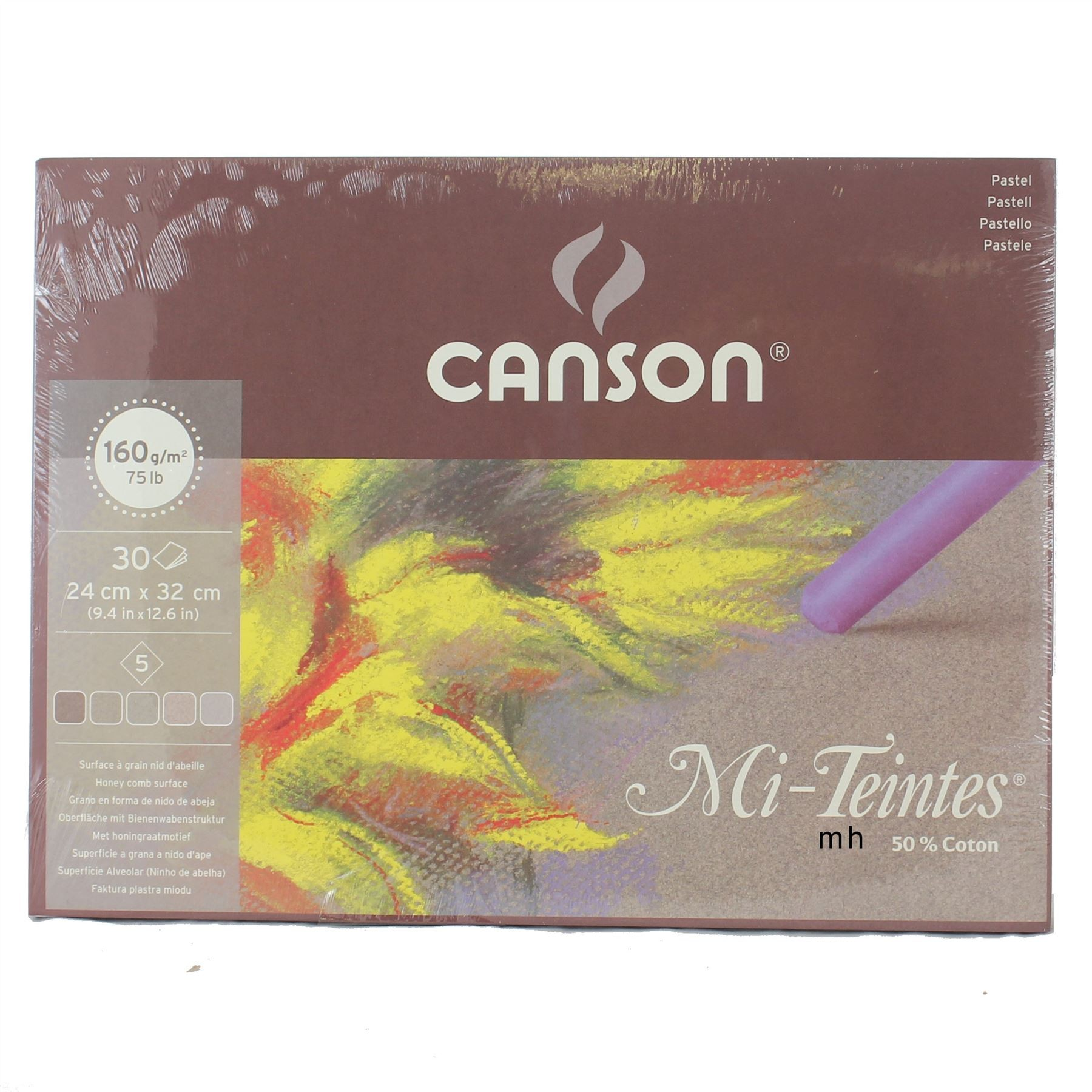 Canson Artists quality pastel paper pad Mi Teintes grey tones