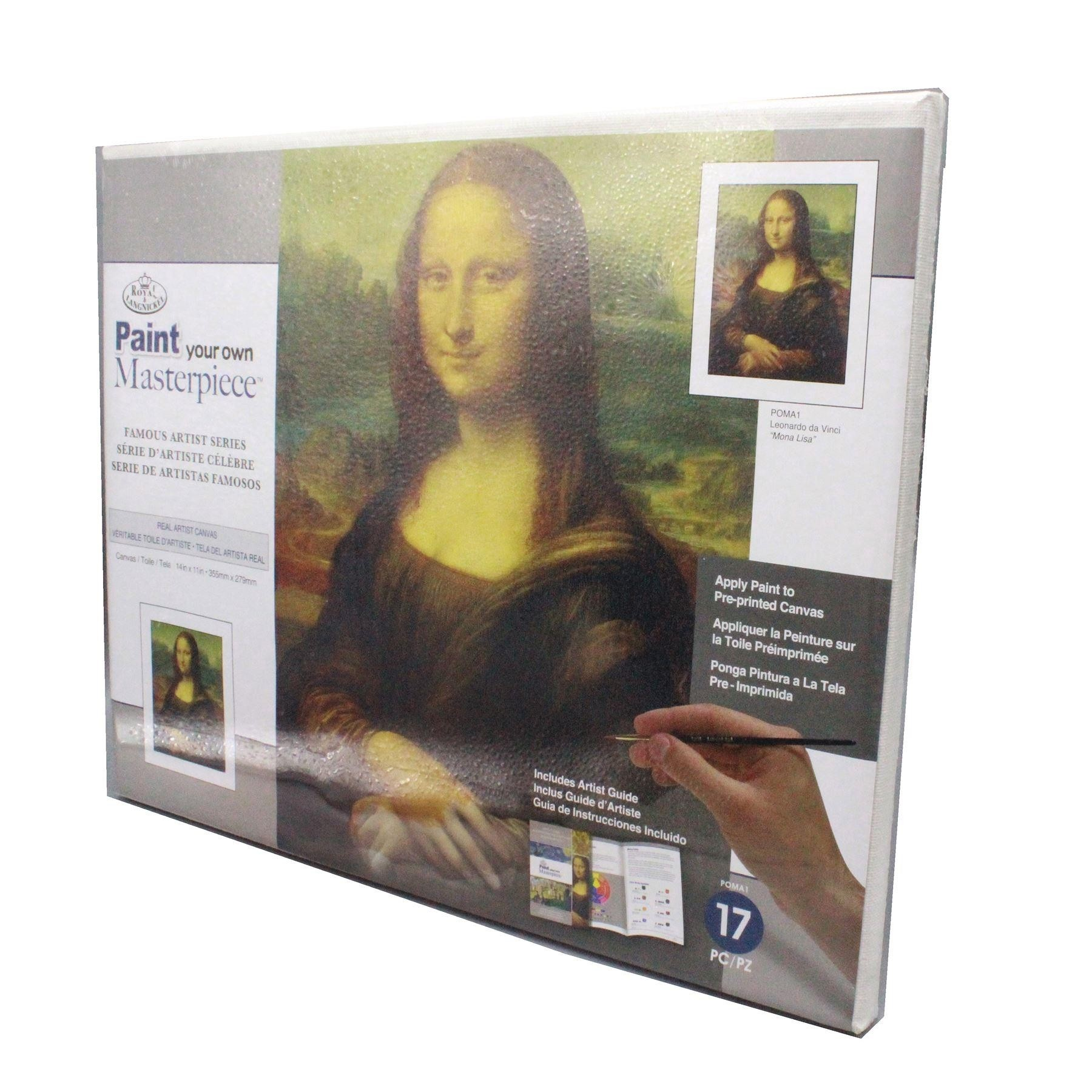 Paint your own Masterpiece Leonardo Da Vinci Mona Lisa Royal & Langnickel