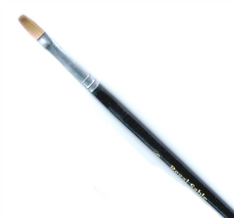Regal Sable watercolour painters brush flats 8