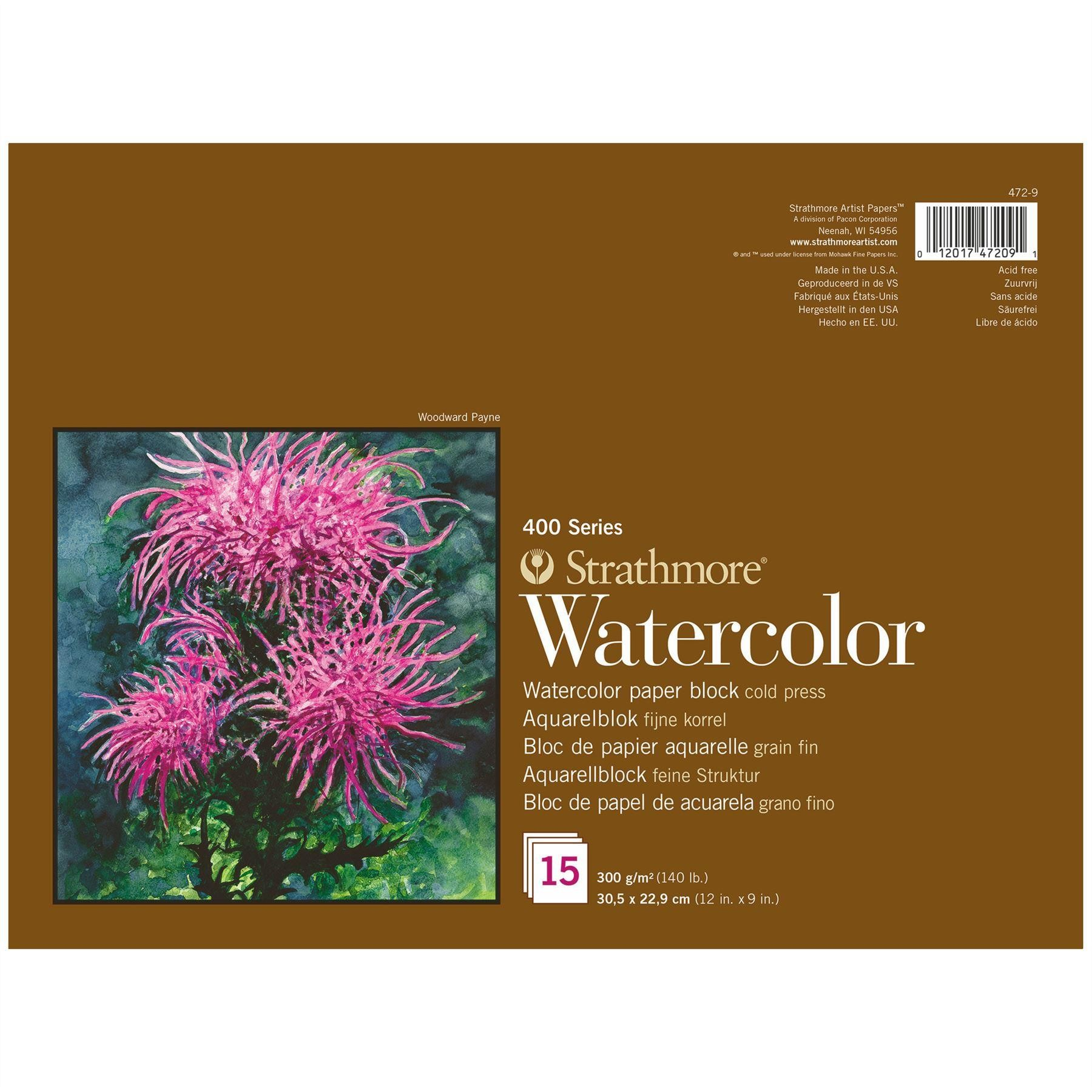 Strathmore professional artist watercolour paper block 15 sheets