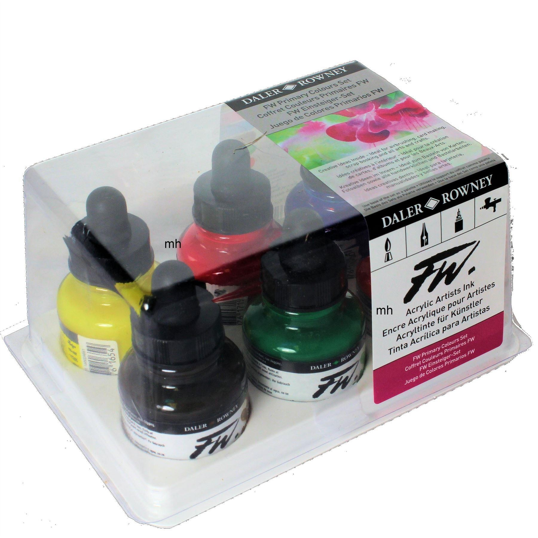 Daler Rowney FW acrylic ink Primary
