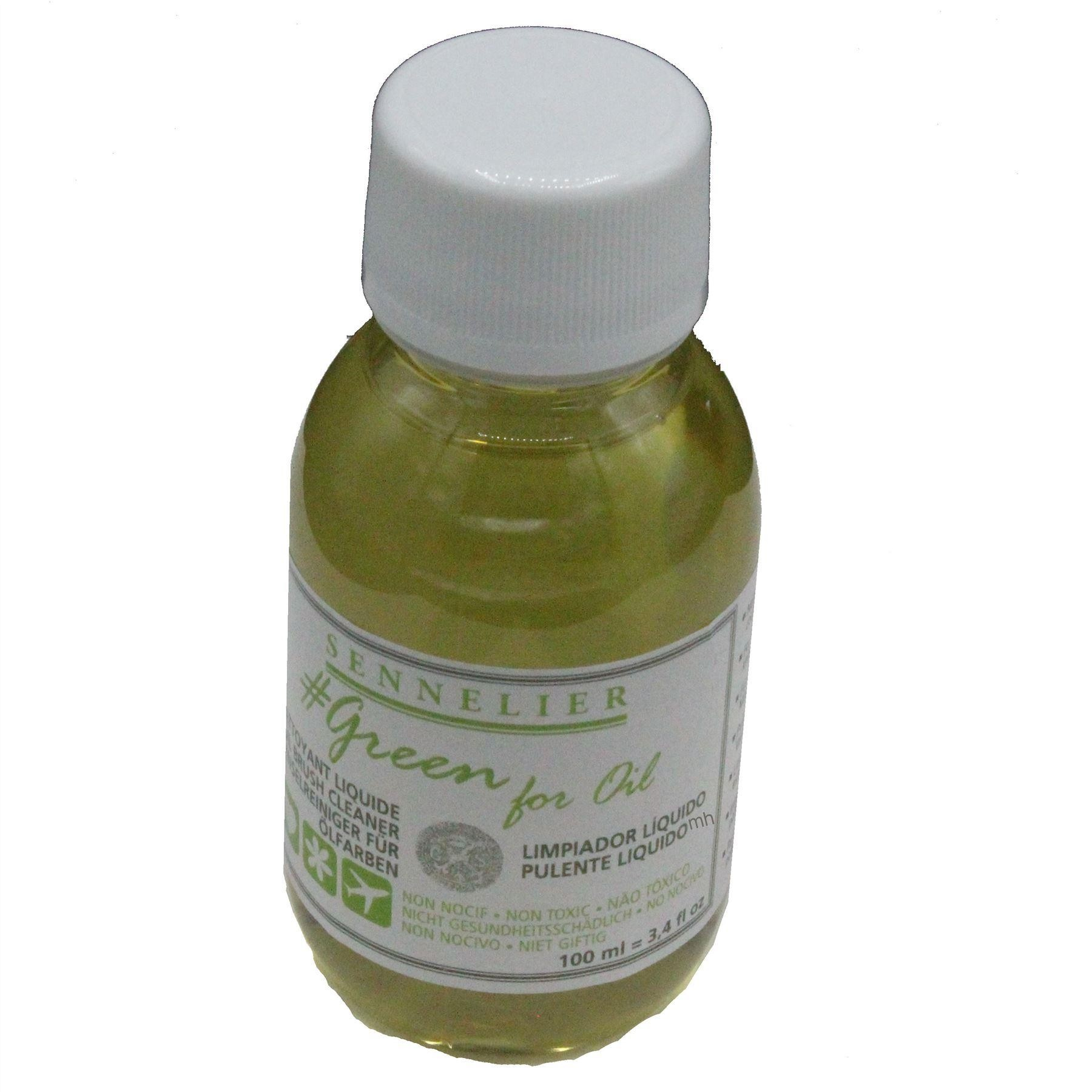 Sennelier green for oil natural oil paint brush cleaner
