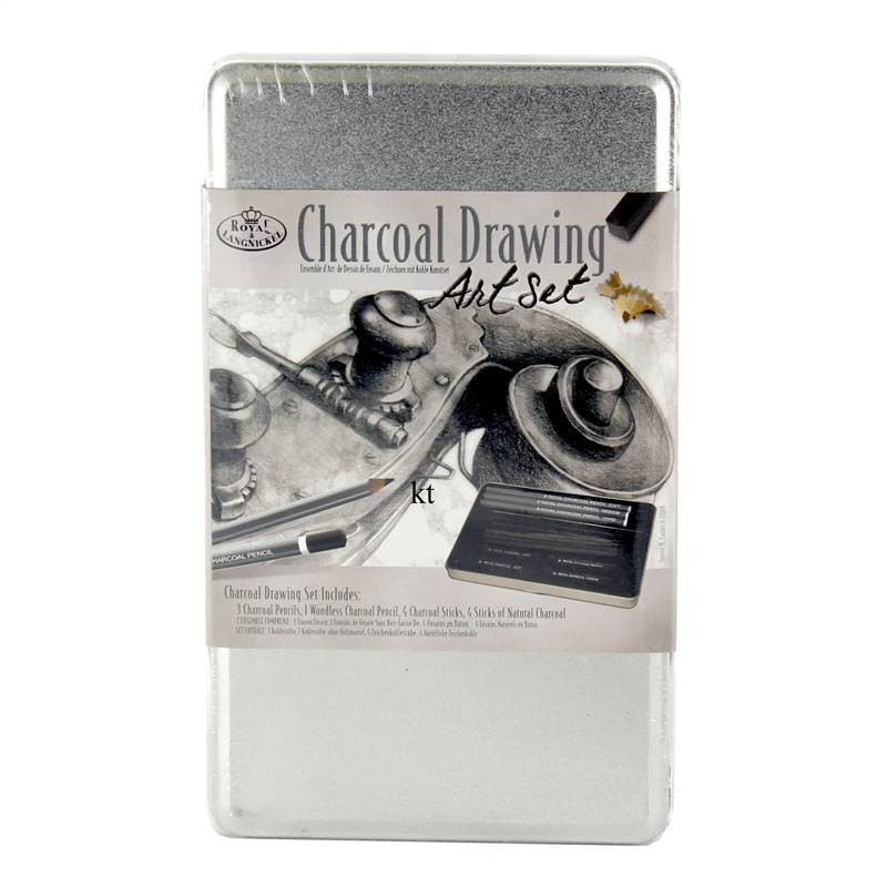 Charcoal Drawing Art Set Tin - Small Size