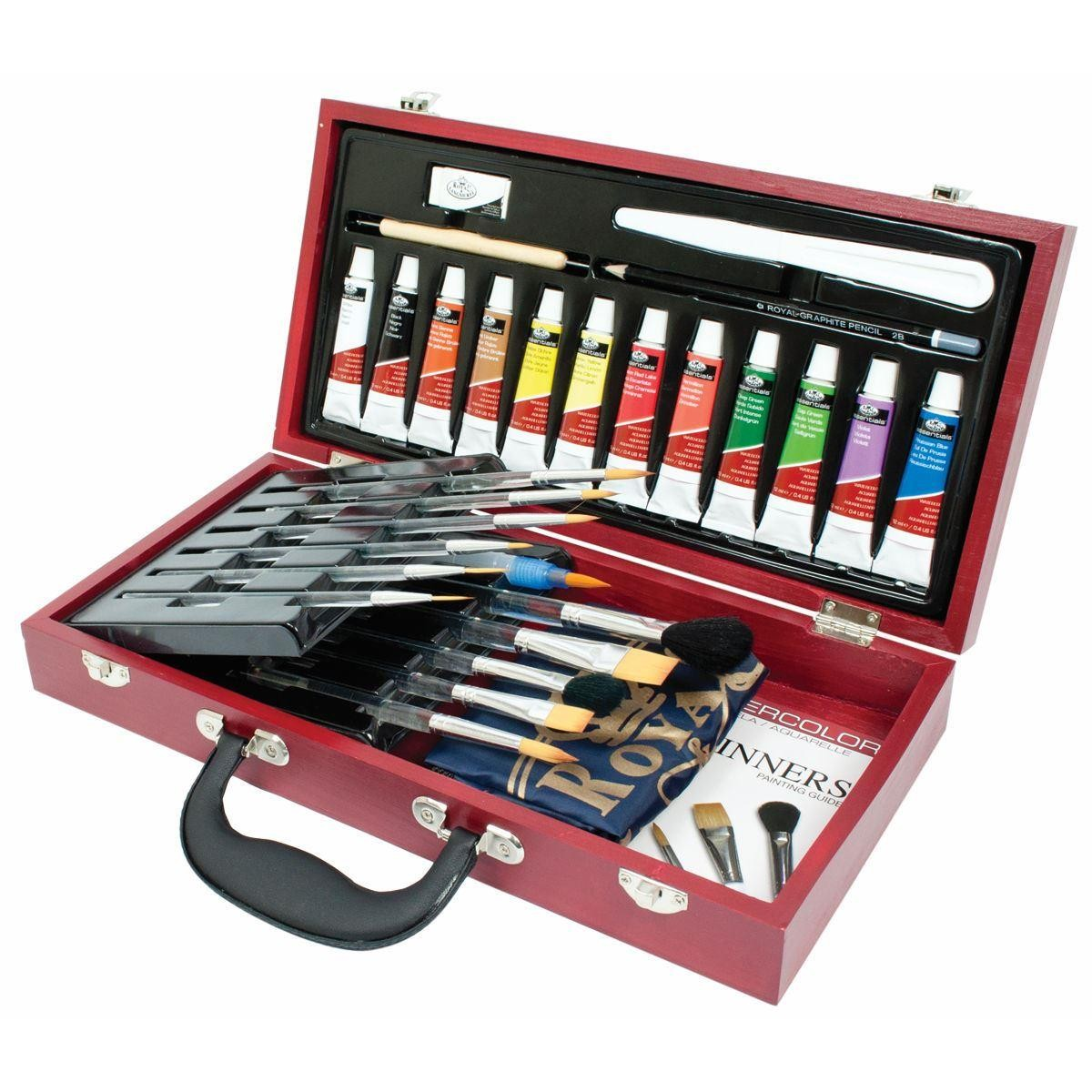 Royal and Langnickel watercolour paint wooden box set RSET-WAT2000