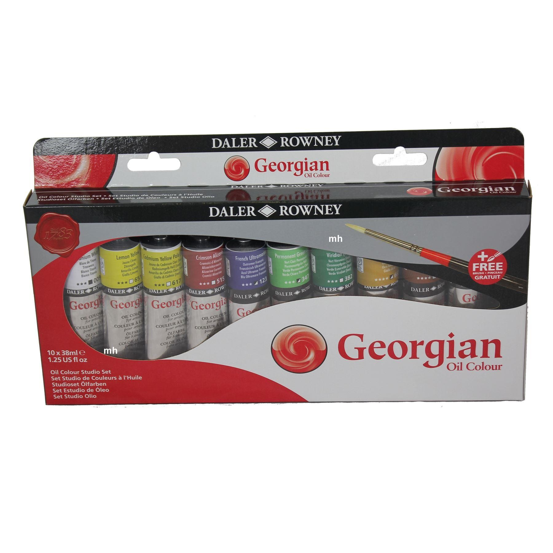 Daler Rowney Artists Georgian Oil colour paint set 10 x 38ml  Set