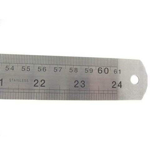 "24"" Stainless Steel Ruler 60cm dual markings rule"