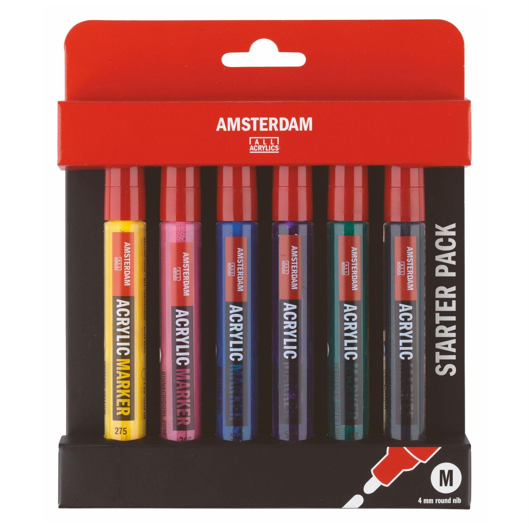 Talens Amsterdam all acrylic markers basic set of 6
