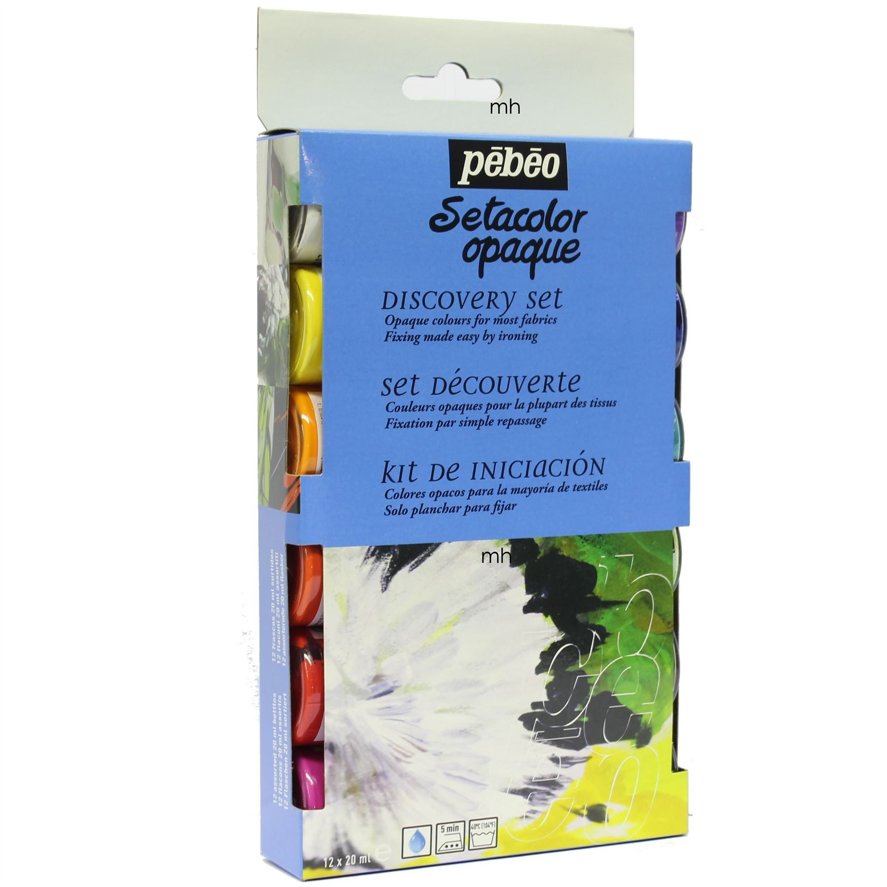 Pebeo Setacolor Opaque Discovery Set 12x20ml Painting on Fabric