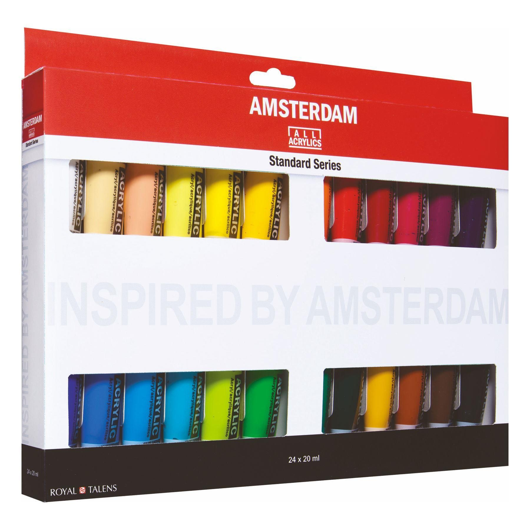 Royal Talens Amsterdam acrylic study set 24x20 ml.