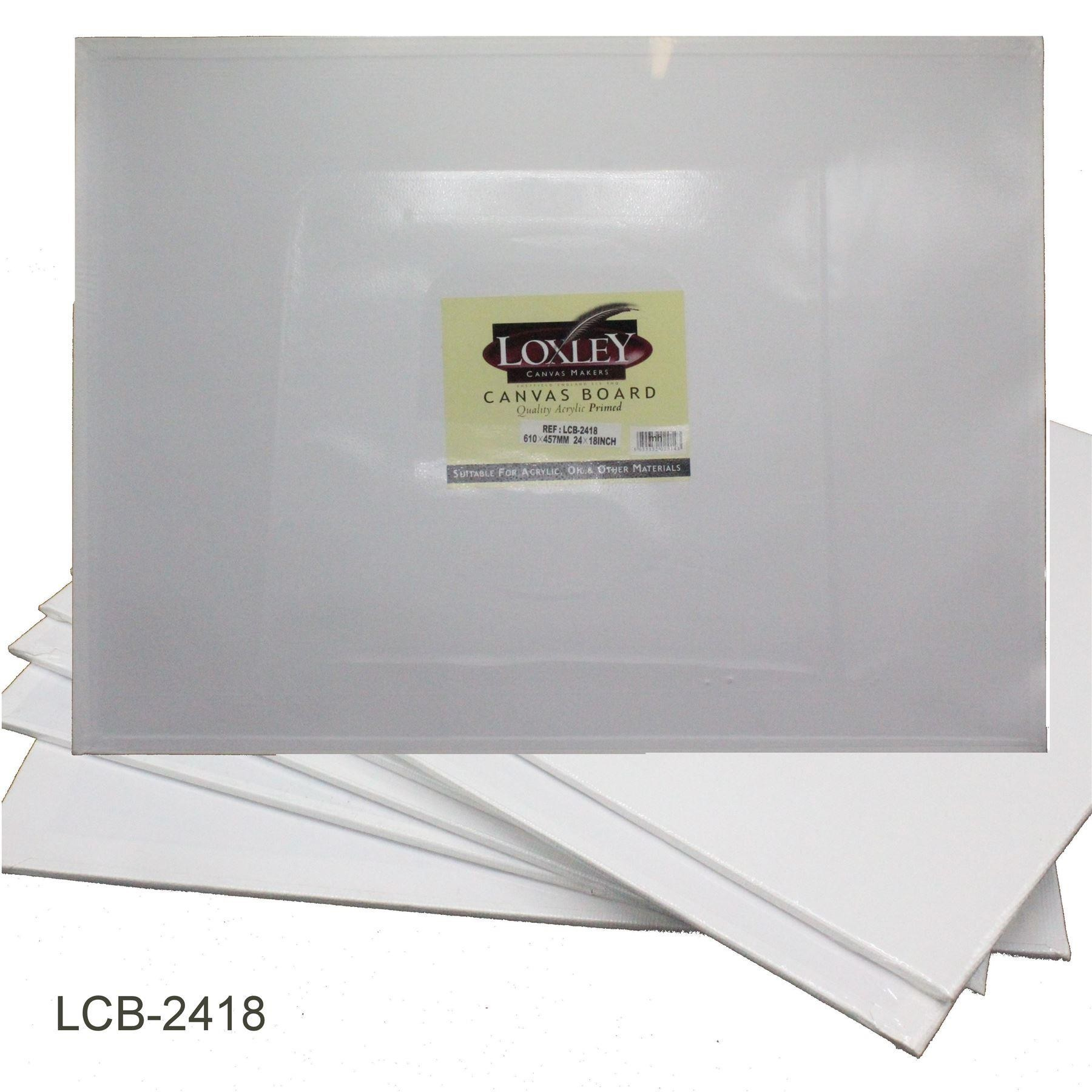 Double Primed Acrylic canvas board from Loxley - 24 x 18""