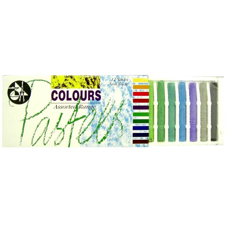 Compressed assorted coloured pastels from Jakar