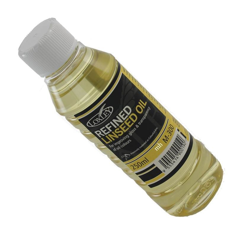 Loxley artist refined linseed oil, 250 mL bottle