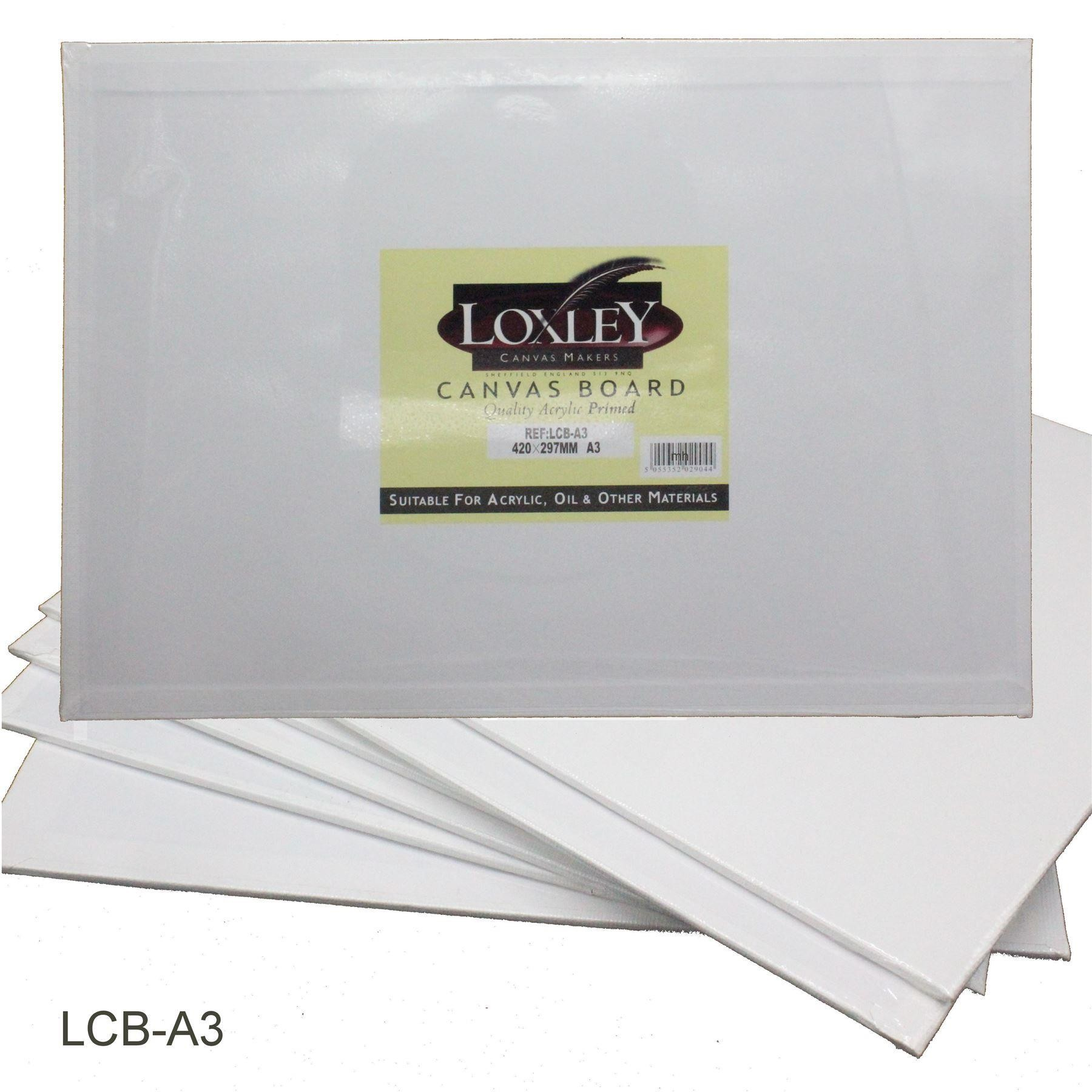 Primed Quality Acrylic Canvas Board from Loxley (A3)