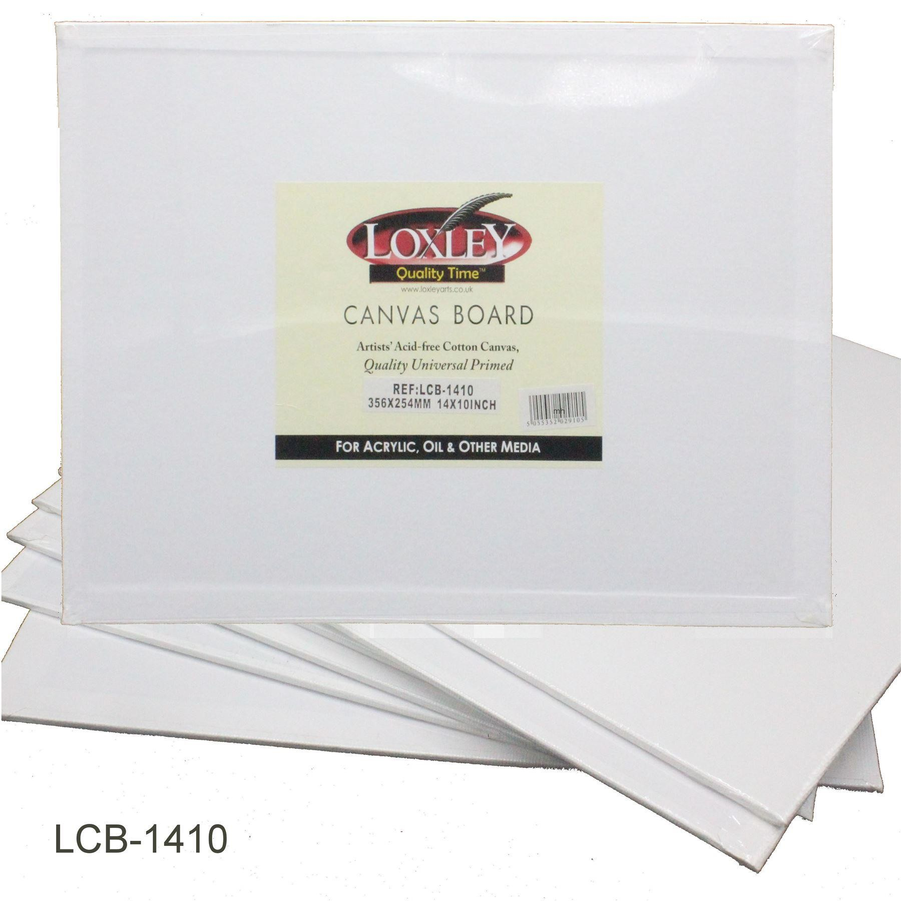 Loxley Quality Double Primed Acrylic Canvas Board - 14 x 10""