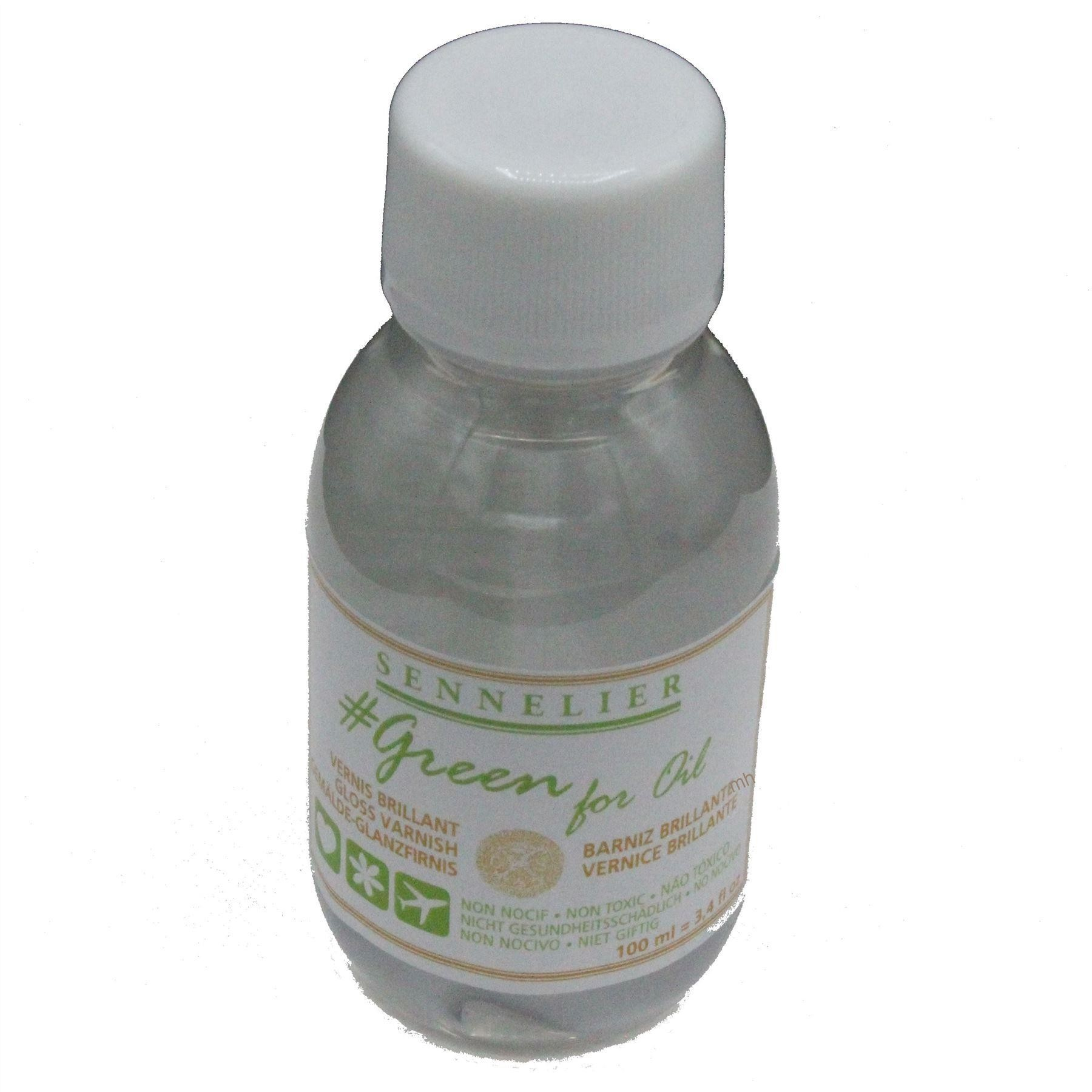 Sennelier Green for oil 100ml Gloss Varnish