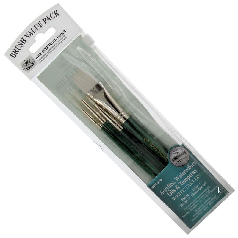 White Taklon brushes from Royal and Langnickel