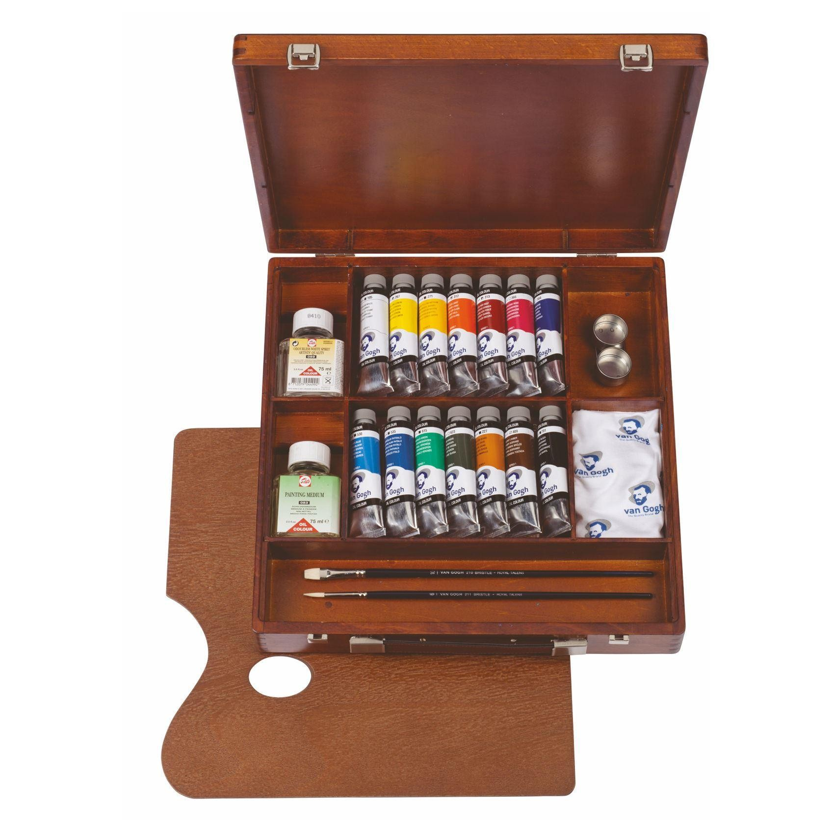 Royal Talens Van Gogh Oil Colour Wooden Box Inspiration