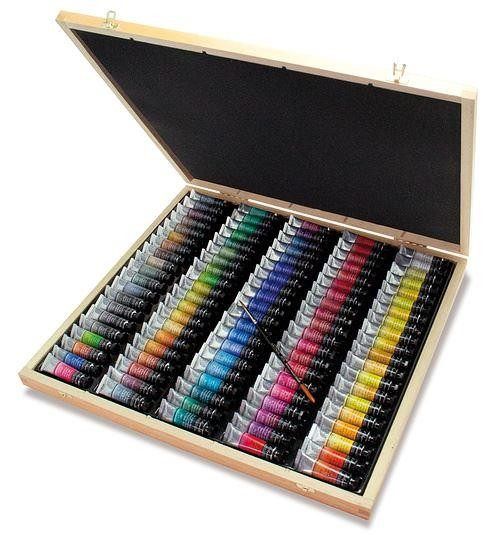 Sennelier L'Aquarelle Artist quality watercolour wooden box set