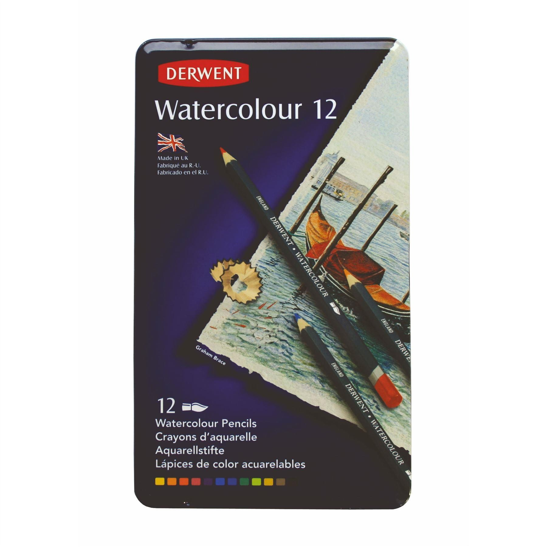 Derwent Watercolour 12 tin