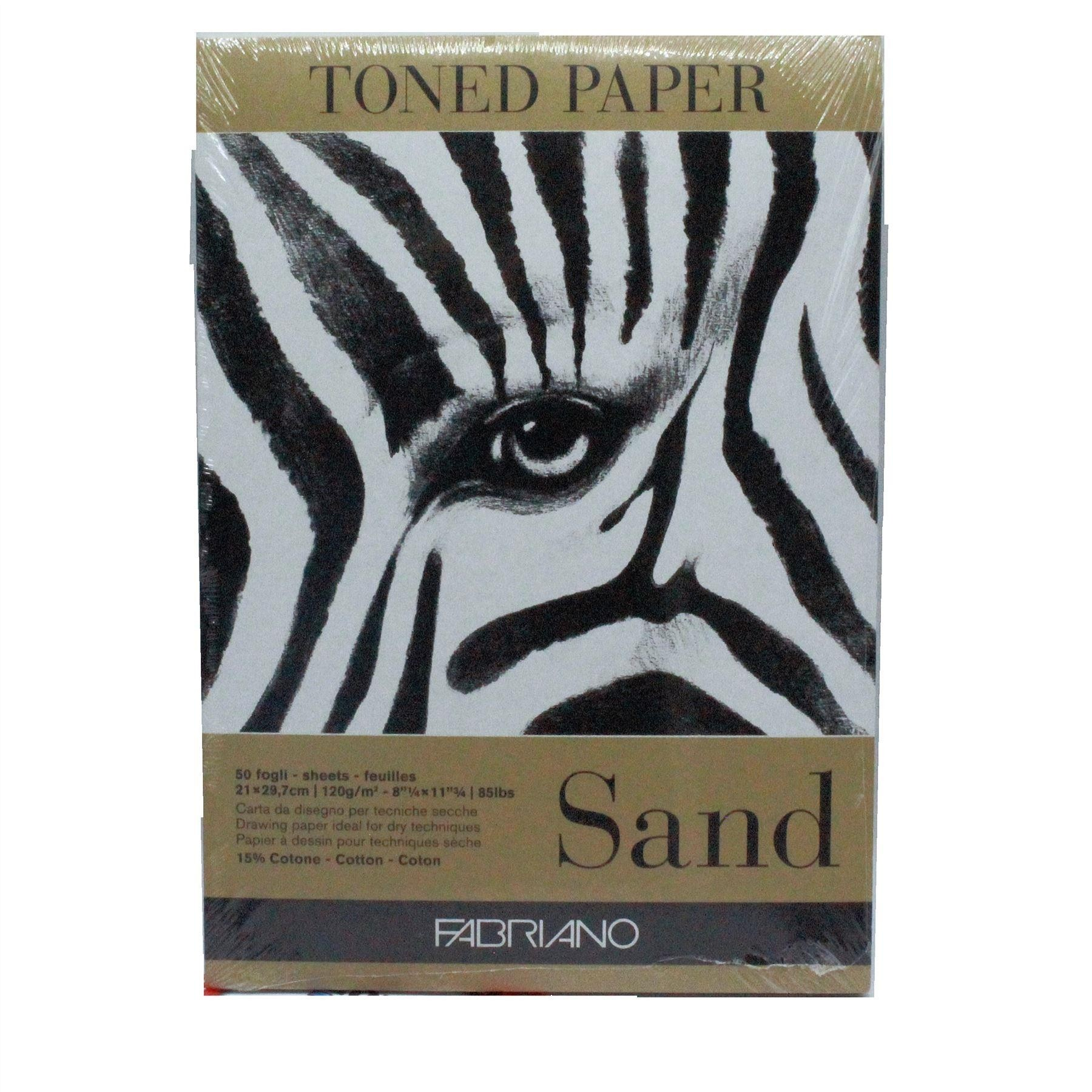 Fabriano toned paper sand colour pad A4 120gsm 50 sheets