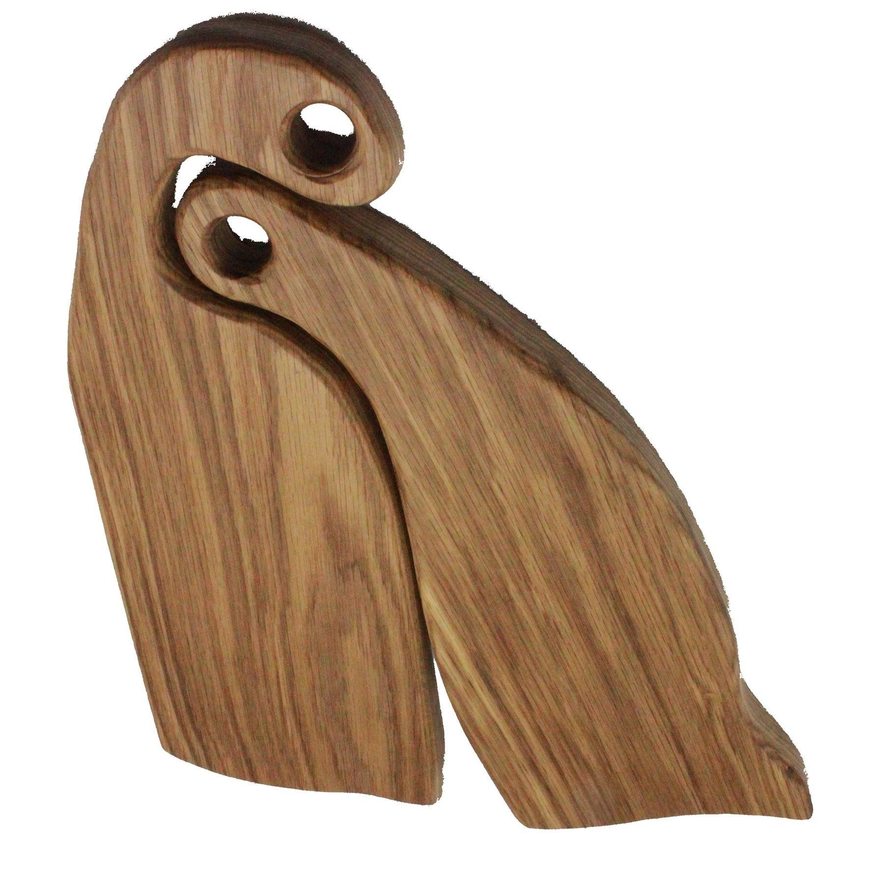 2 Oak wood rustic board with curved hugging chopping boards handcrafted
