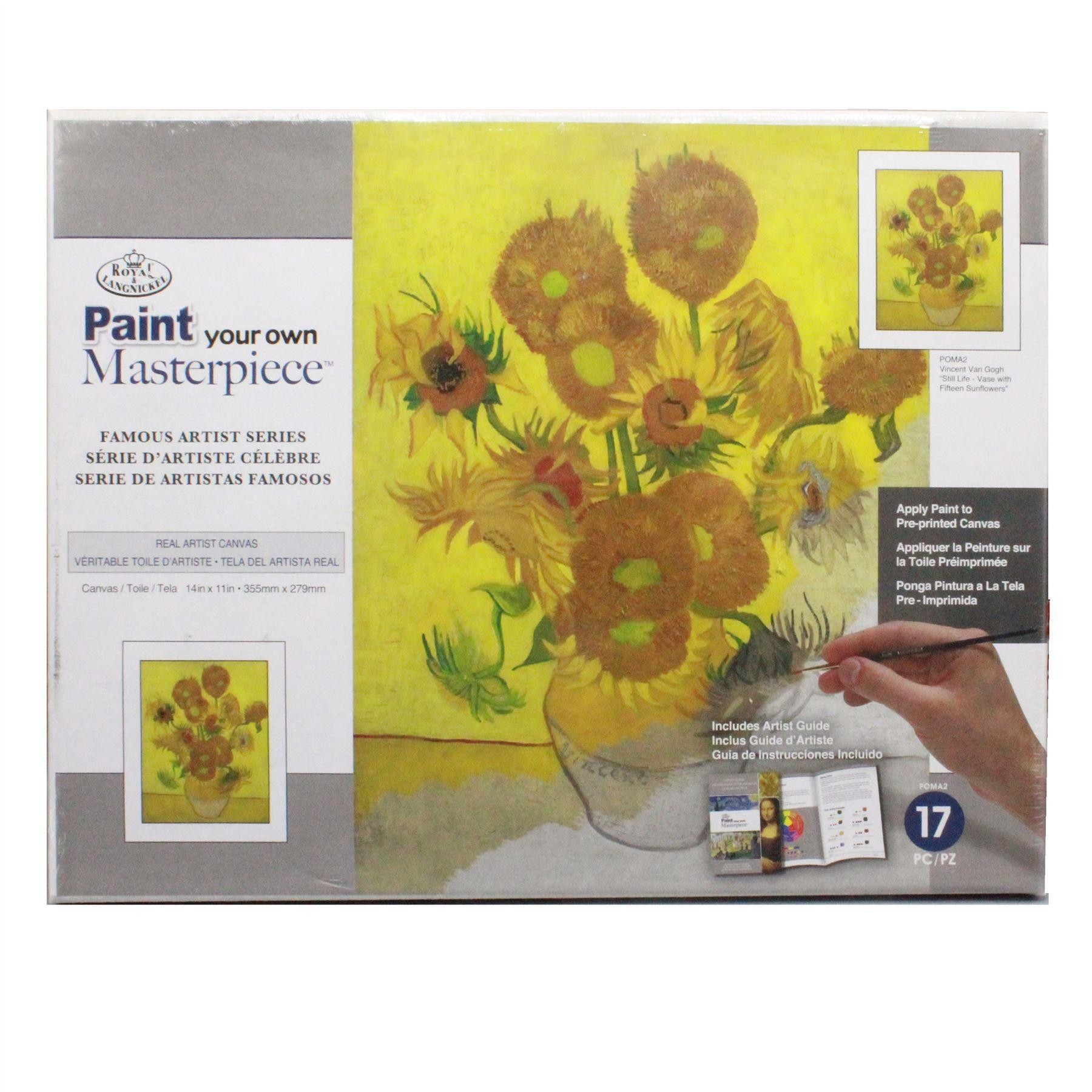 Paint your own Masterpiece Vincent Van Gogh Still life vase with fifteen sunflowers