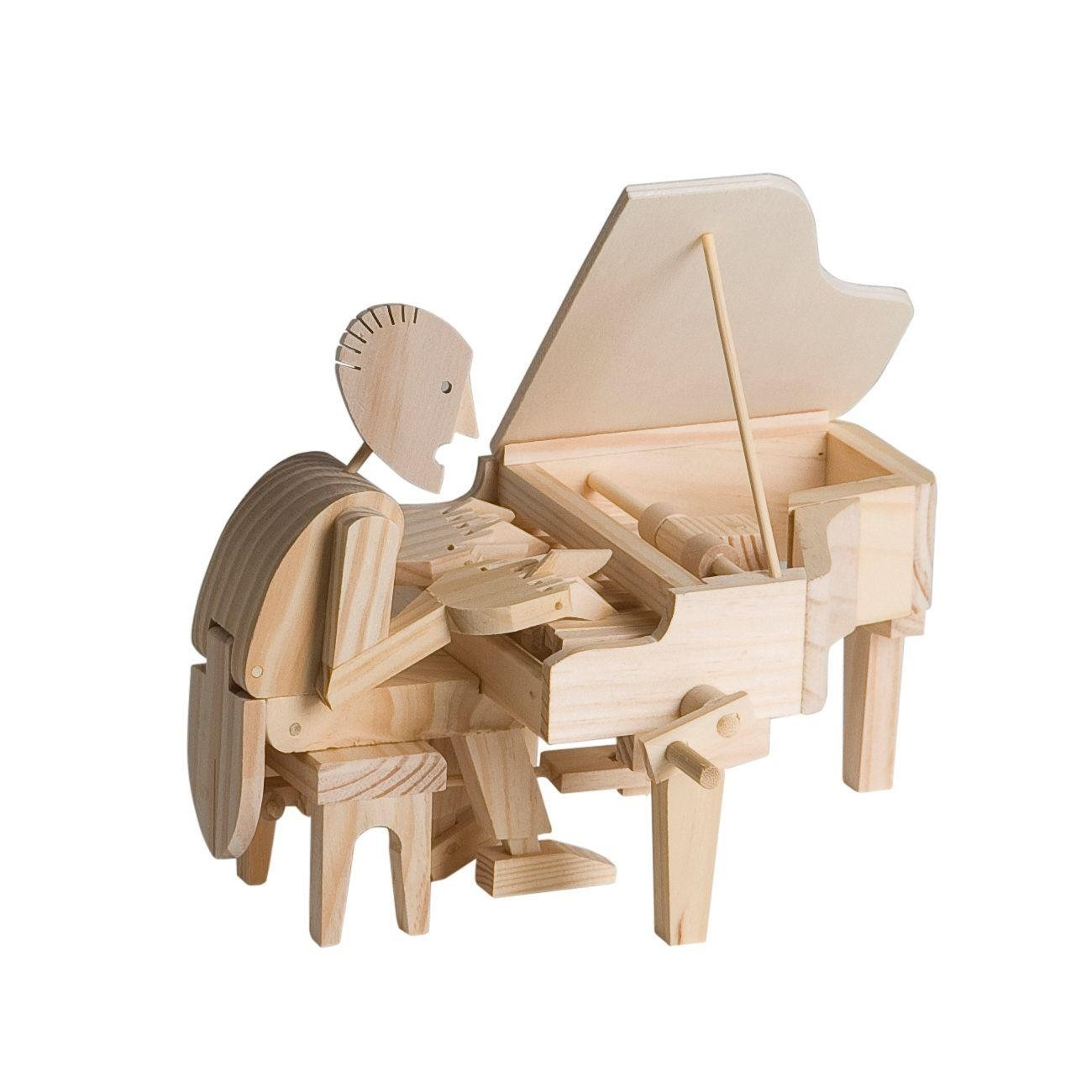 Timberkits Pianist Kit wooden model flatpack kit