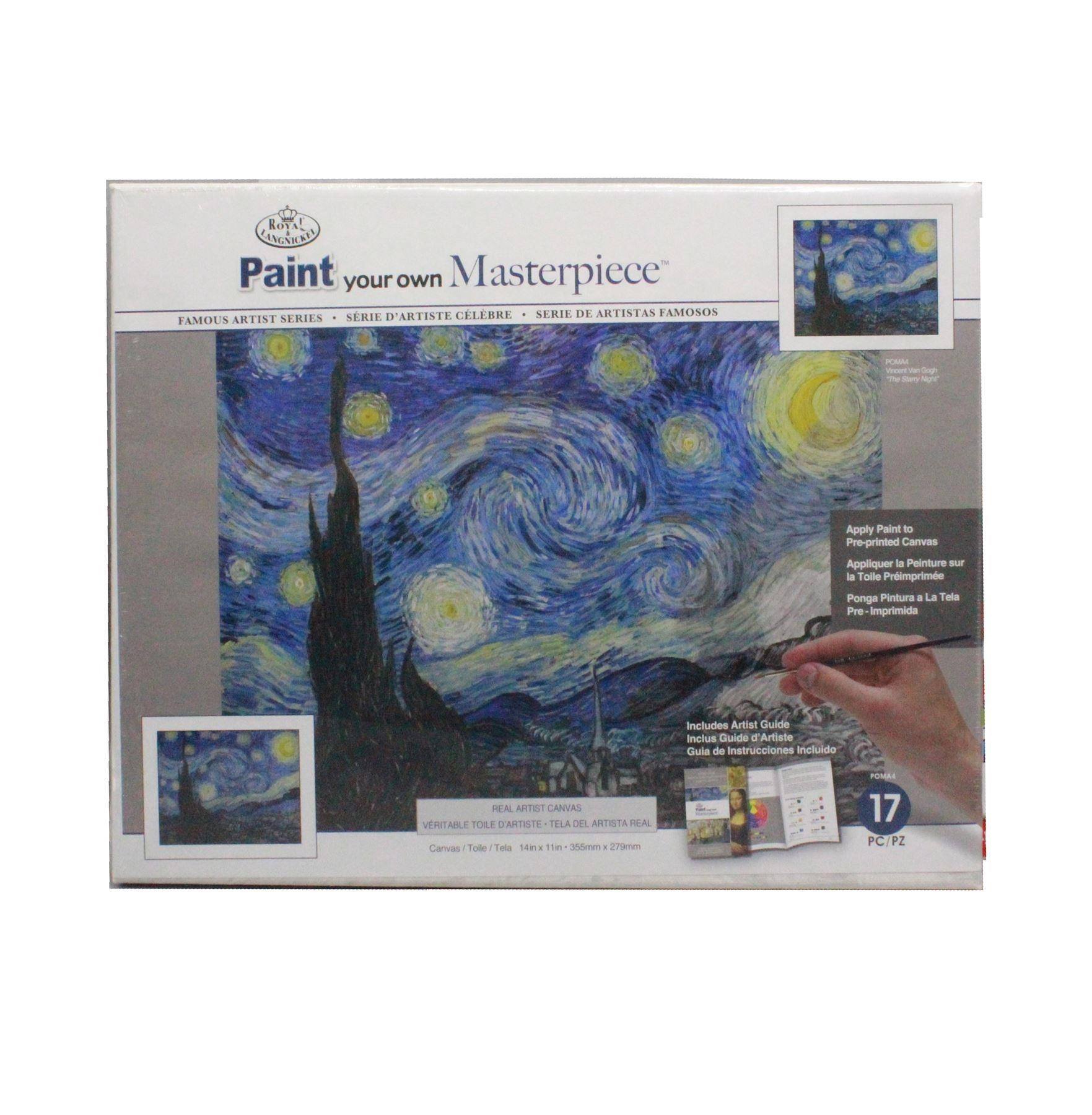 Paint your own Masterpiece Vincent Van Gogh Starry Night Royal & Langnickel