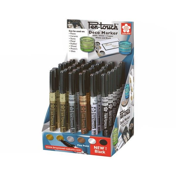 Sakura Pen-touch Deco Markers,1.0mm Fine Point - Assorted Colours