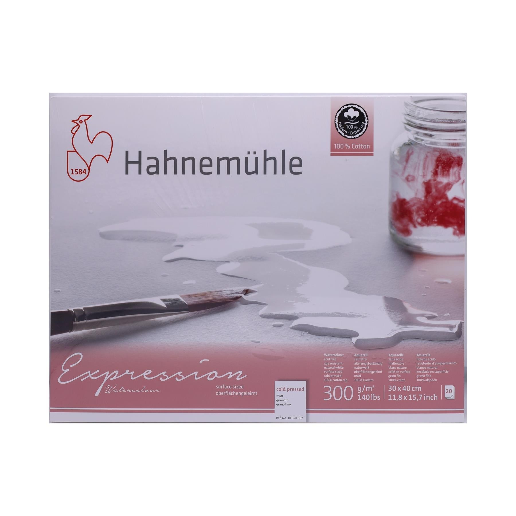 Hahnemuhle Expressions 30 x 40cm watercolour 300gsm Cold pressed