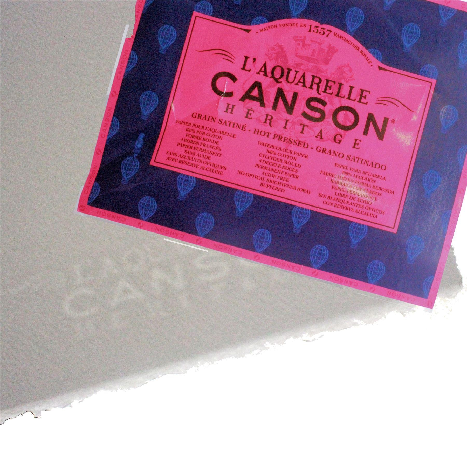 Canson L'Aquarelle cotton Heritage artists watercolour paper hot pressed smooth paper
