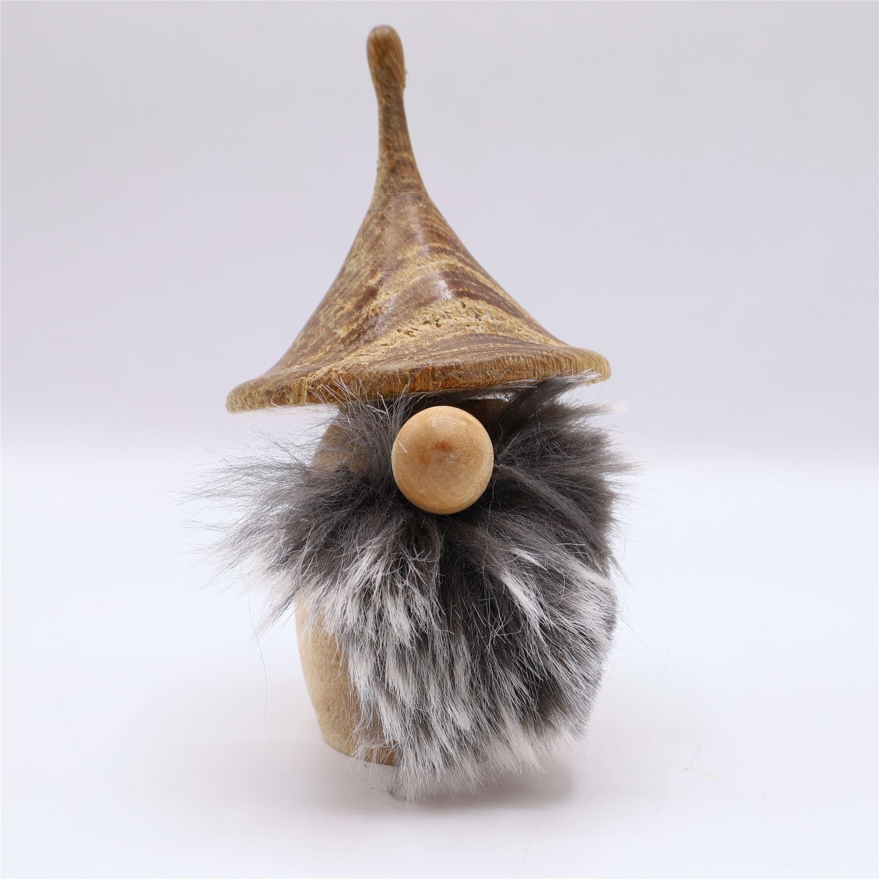Wooden hand turned gonk Malin cone hat oak and ash