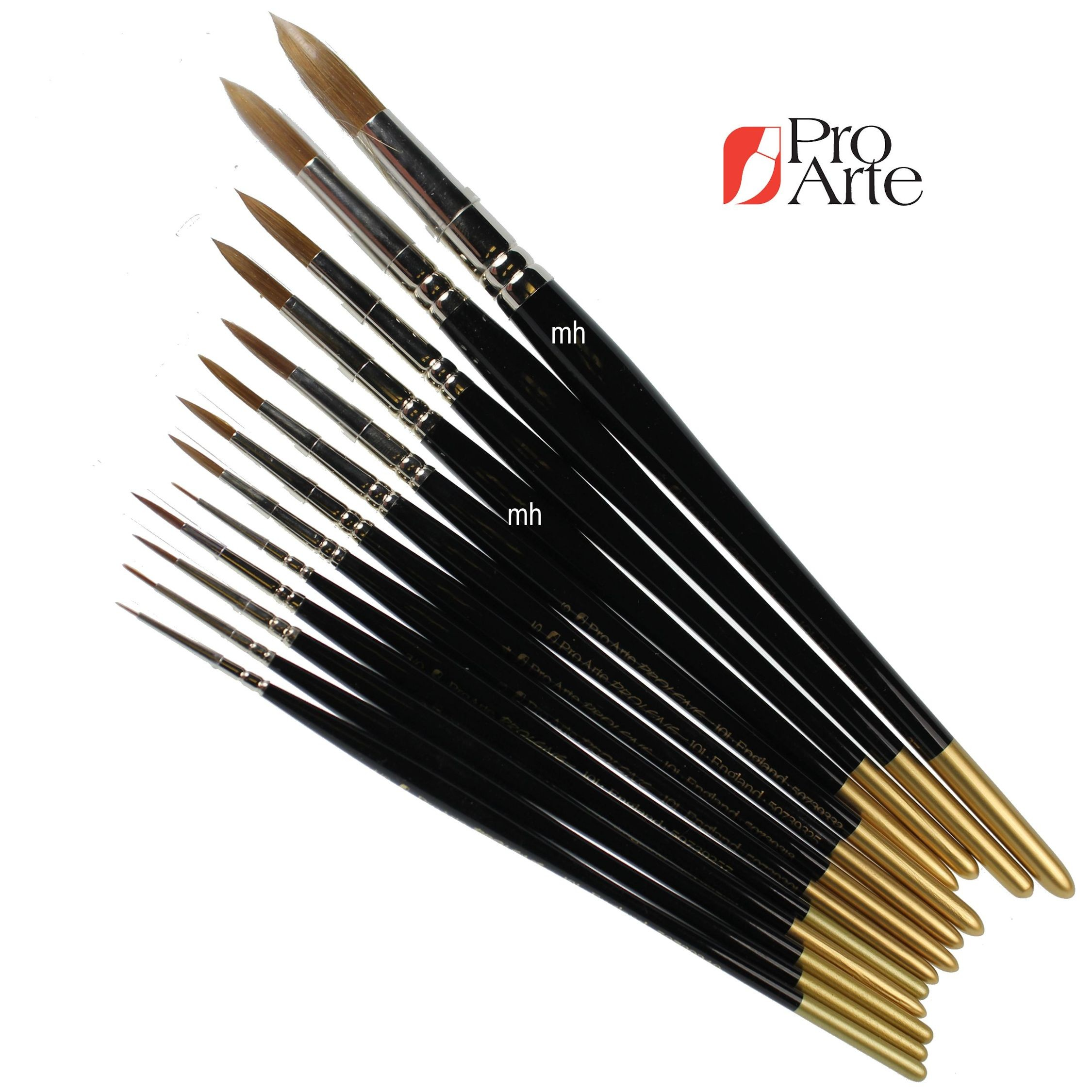 Pro Arte Series 101 Prolene Synthetic Watercolour Brushes