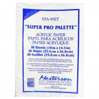 Masterson Sta-Wet Stay Wet 'Super Pro palette' Acrylic Paper - 30 Sheets 10x14.5""