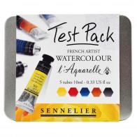 Sennelier L'Aquarelle French Artists watercolour Paint Test Pack 10ml tubes