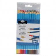 24 Artist Assorted Watercolour Pencils Assorted Colours Water Soluable