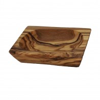 Olive wood butter dish