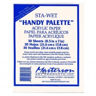 Sta-Wet Handy palette Refill Acrylic Paper - 30 Sheets