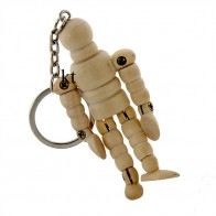"""Keyring 2.5"""" Wooden Lay Figure Manikin for Artists"""