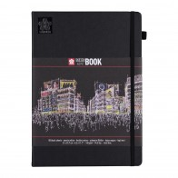Sakura sketch note book black paper 21cm x 29.7cm 80 sheets 140gsm A4