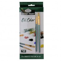 Royal & Langnickel Artist Paint 12ml 12 Pc Set - Oil Colour & Brushes