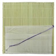 Artist's Bamboo Brush Roll with Cloth Pockets