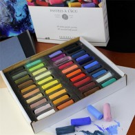 Sennelier artists Extra Soft 40 Assorted coloured Half Pastels Sticks