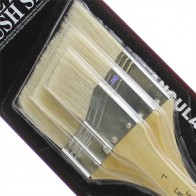 Large Area Brush Set White Bristle Angled from Royal and Langnickel