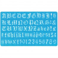 Old English Style Letter Stencil